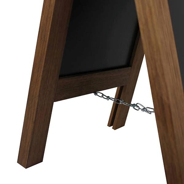Kundenstopper Holz Mini Noir DIN A4 Tischaufsteller 3