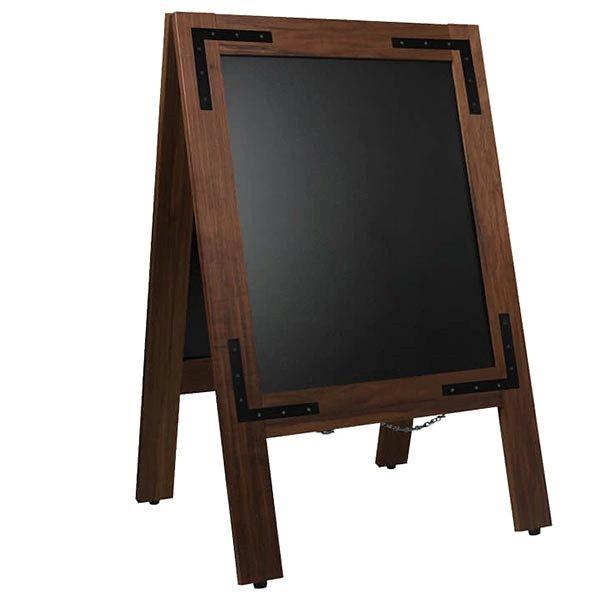 Kundenstopper Holz Noir 420 x 620 mm Schreibfläche 1
