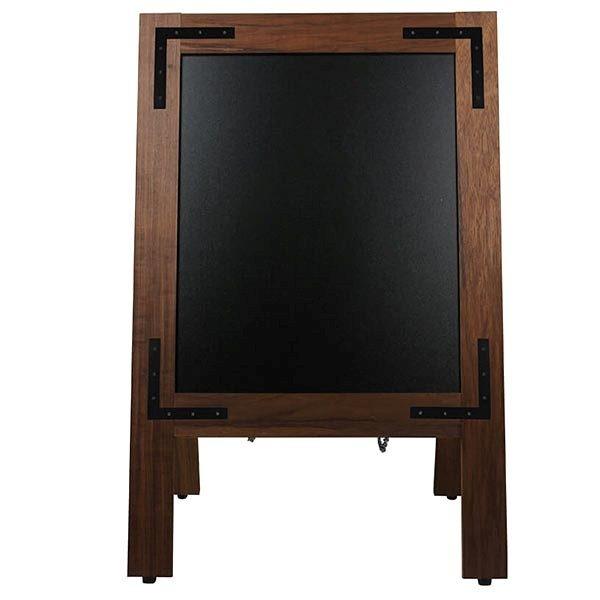 Kundenstopper Holz Noir 420 x 620 mm Schreibfläche 2