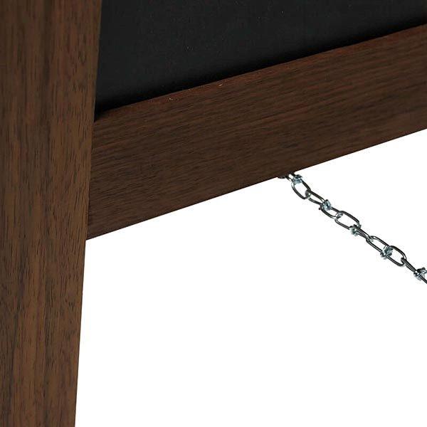 Kundenstopper Holz Noir 420 x 620 mm Schreibfläche 3