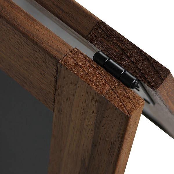 Kundenstopper Holz Noir 420 x 620 mm Schreibfläche 4