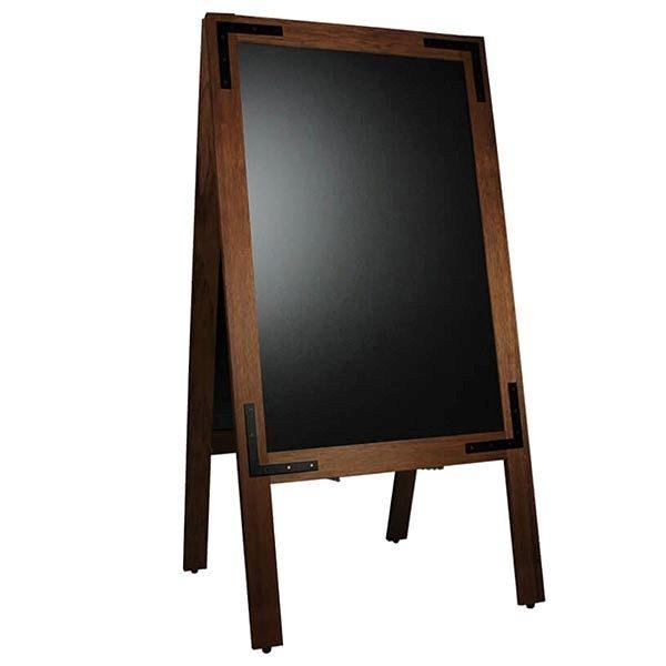 Kundenstopper Holz Noir 570 x 900 mm Schreibfläche 1