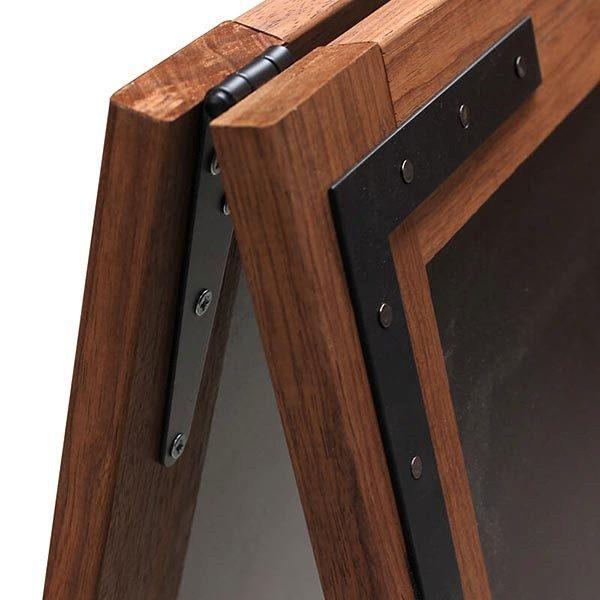 Kundenstopper Holz Noir 570 x 900 mm Schreibfläche 2