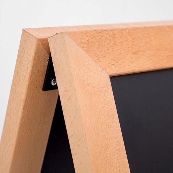 Kundenstopper Holz Standard für den Außenbereich 600 x 780 mm Schreibfläche 2