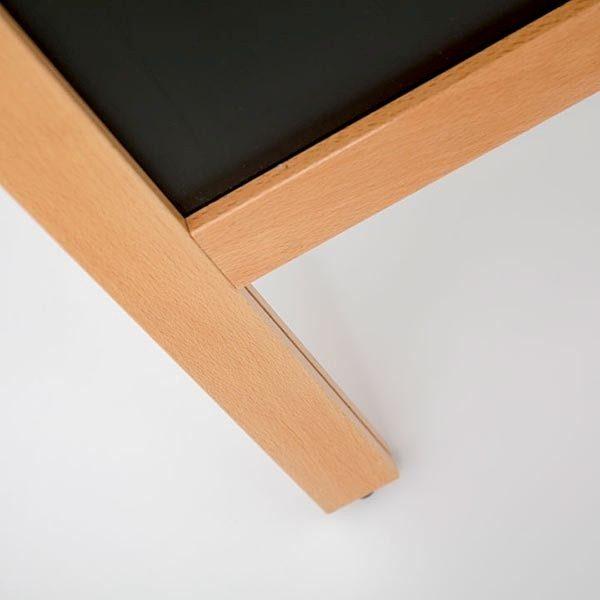 Kundenstopper Holz Standard für den Außenbereich 600 x 780 mm Schreibfläche 3