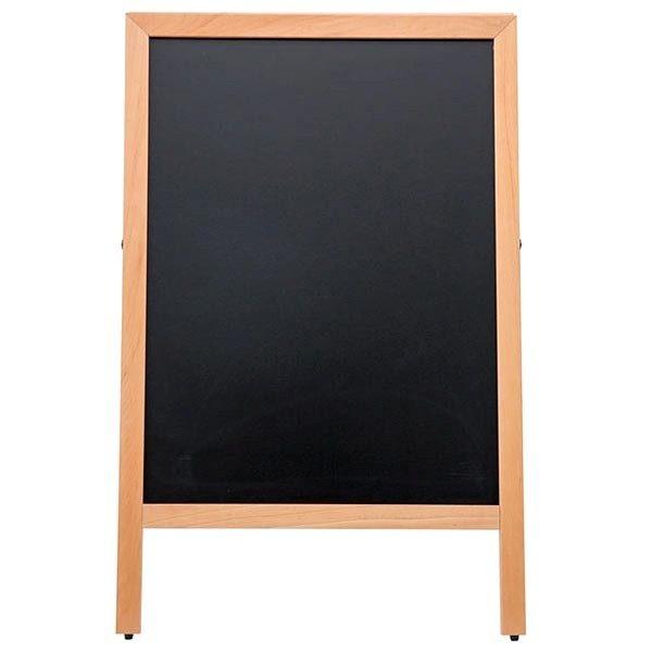 Kundenstopper Holz Standard für den Innenbereich 600 x 780 mm Schreibfläche 1