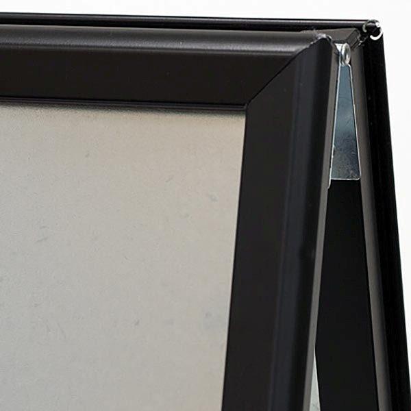 Kundenstopper Indoor 32mm schwarz DIN B2 Postermaß 2