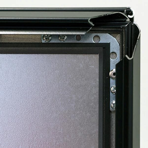 Kundenstopper Indoor 32mm schwarz DIN B2 Postermaß 4