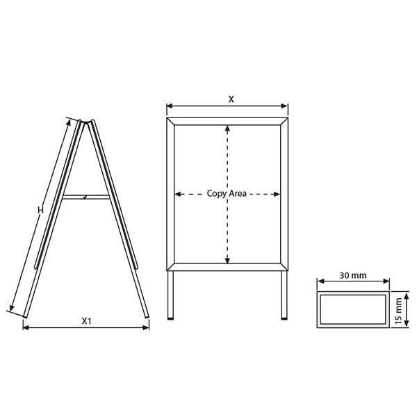 Kundenstopper Indoor Rondo 32mm DIN A2 Postermaß 4