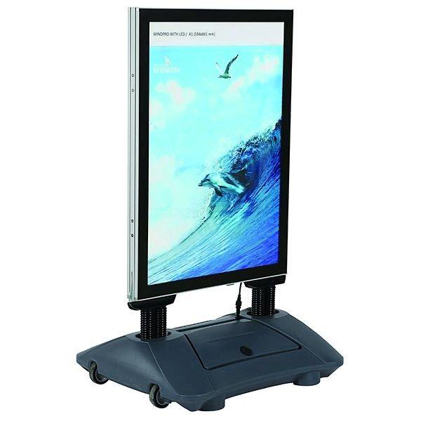 Kundenstopper WindPro LED DIN A1 Postermaß 1