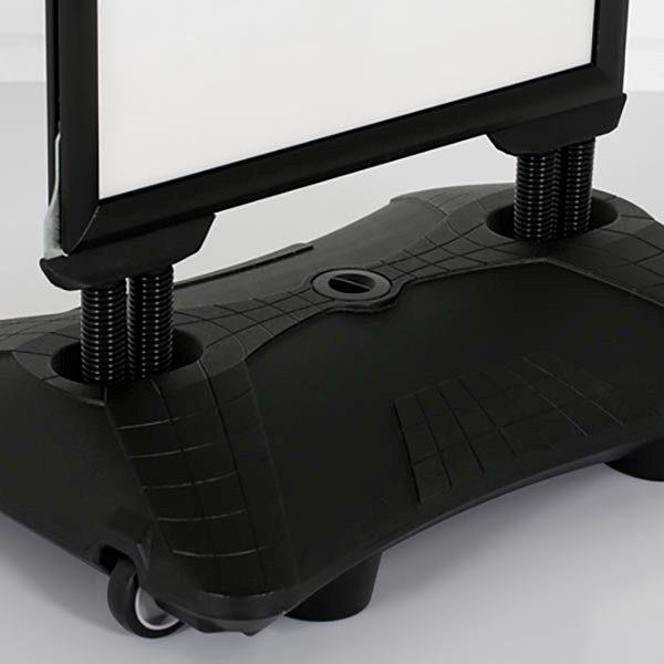 Kundenstopper WindPro Slim schwarz DIN A1 Postermaß 4
