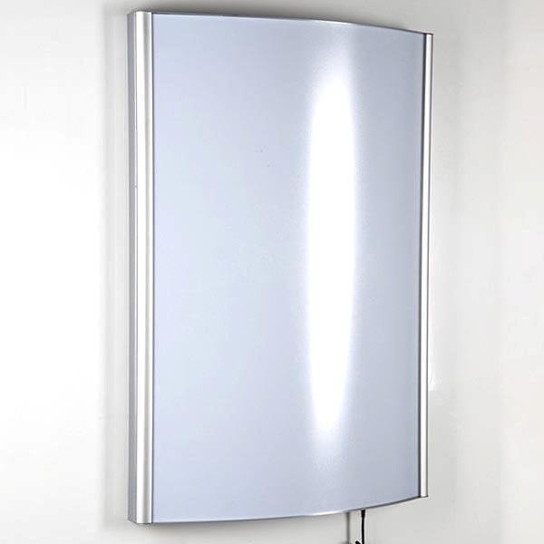 LED Leuchtkasten Konvex einseitig DIN B2 Postermaß 25 mm Profil 1