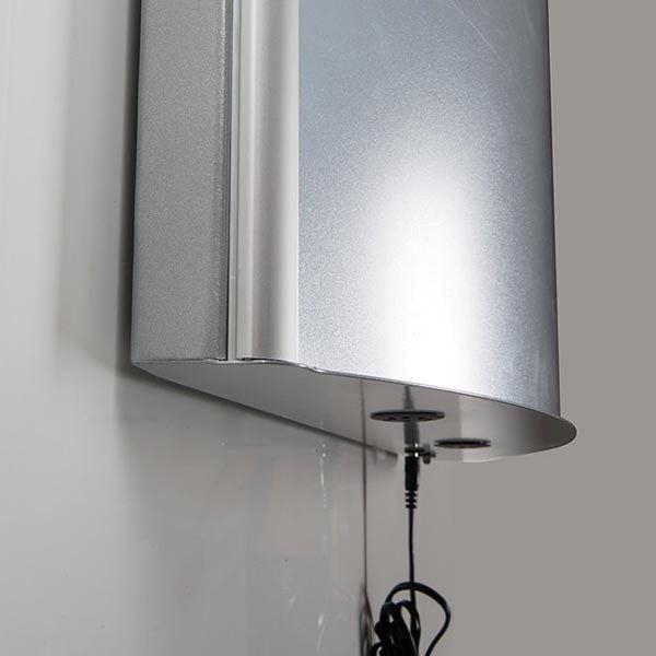 LED Leuchtkasten Konvex einseitig DIN B2 Postermaß 25 mm Profil 2