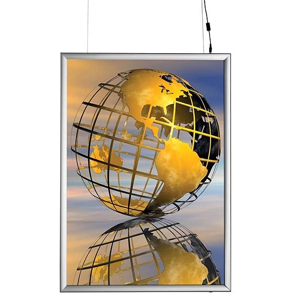 LED Leuchtrahmen Premium doppelseitig 25mm DIN A1 Postermaß doppelseitig 1