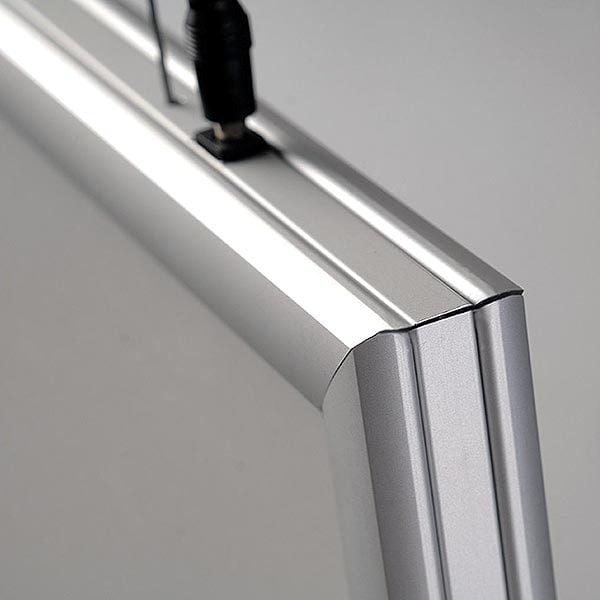 LED Leuchtrahmen Premium doppelseitig 25mm DIN A1 Postermaß doppelseitig 8