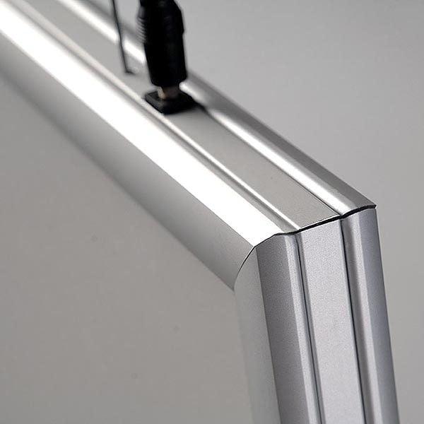LED Leuchtrahmen Premium doppelseitig 25mm DIN A4 Postermaß doppelseitig 8