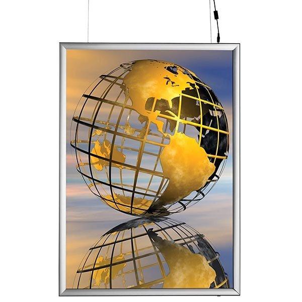 LED Leuchtrahmen Premium doppelseitig 25mm DIN B2 Postermaß doppelseitig 1