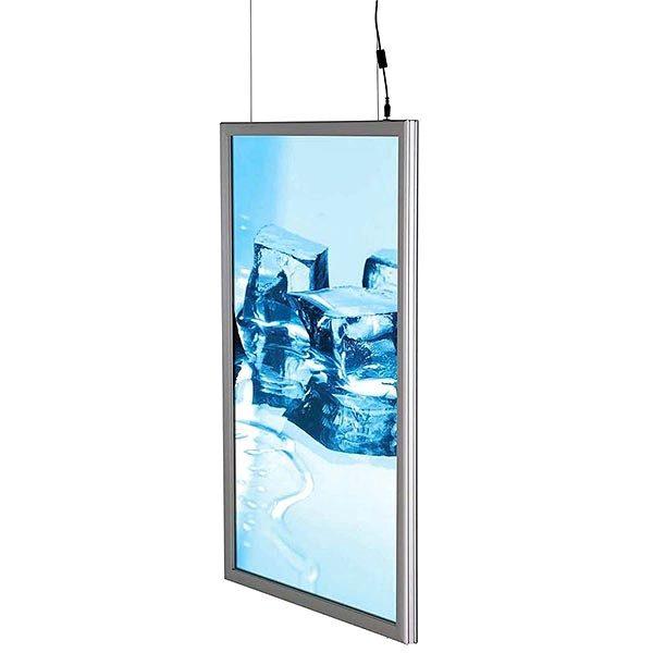 LED Leuchtrahmen Premium doppelseitig 25mm DIN B2 Postermaß doppelseitig 4