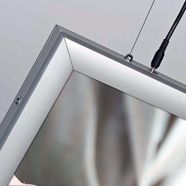 LED Leuchtrahmen Premium doppelseitig 35mm DIN A0 Postermaß doppelseitig 2