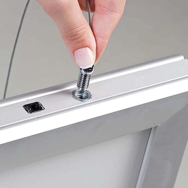 LED Leuchtrahmen Premium doppelseitig 35mm DIN A0 Postermaß doppelseitig 3