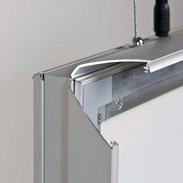 LED Leuchtrahmen Premium doppelseitig 35mm DIN A0 Postermaß doppelseitig 9