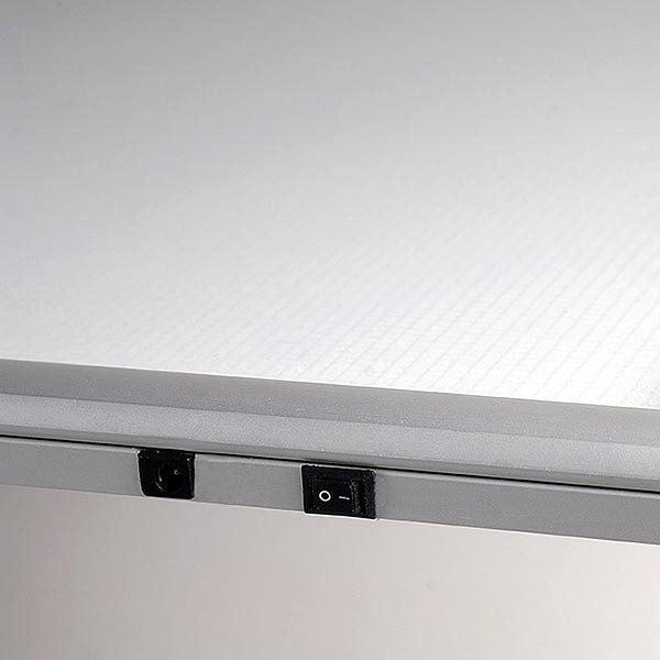 LED Leuchtrahmen Premium einseitig 25mm DIN B2 Postermaß einseitig 10
