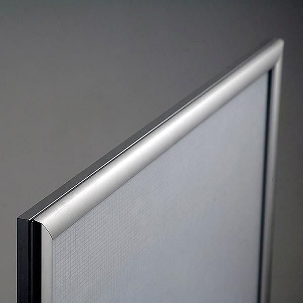 LED Leuchtrahmen Premium einseitig 25mm DIN B2 Postermaß einseitig 8