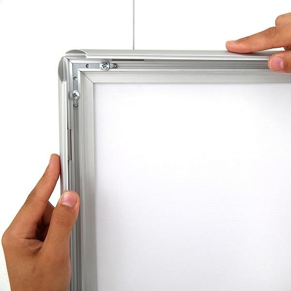 LED Leuchtrahmen Standard doppelseitig 25mm Profil DIN A0 Postermaß doppelseitig 4