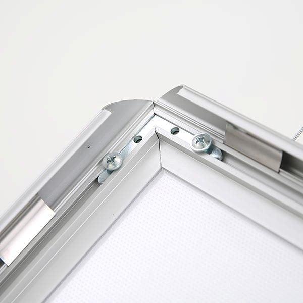 LED Leuchtrahmen Standard doppelseitig 25mm Profil DIN A1 Postermaß doppelseitig 6