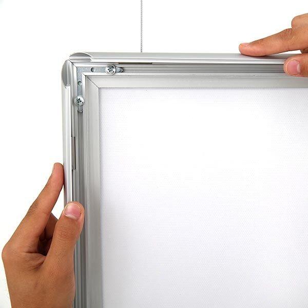 LED Leuchtrahmen Standard doppelseitig 25mm Profil DIN A2 Postermaß doppelseitig 4