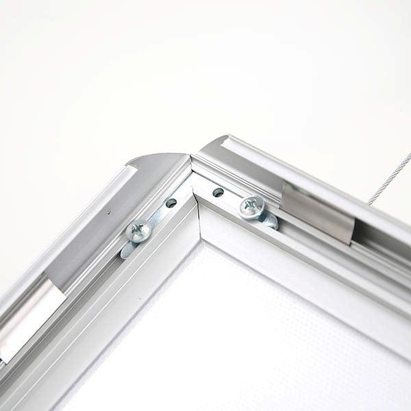 LED Leuchtrahmen Standard doppelseitig 25mm Profil DIN A2 Postermaß doppelseitig 6