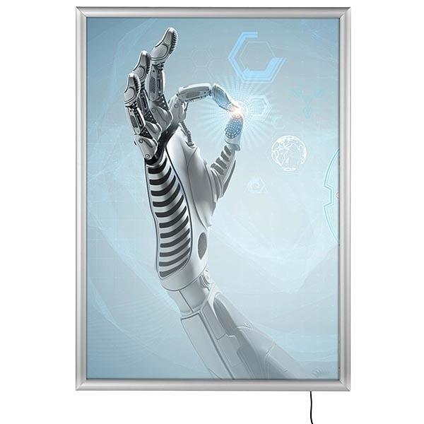 LED Leuchtrahmen Standard einseitig 25mm DIN A0 Postermaß einseitig 1