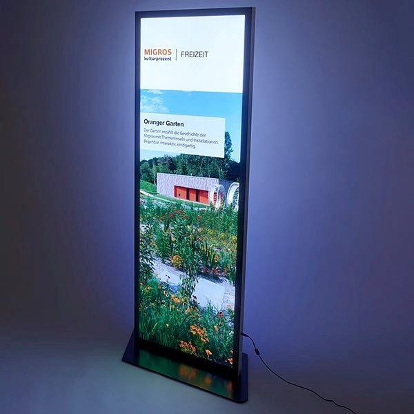 LED Magnet Leuchtsäule Format 597 x 1682 mm 1