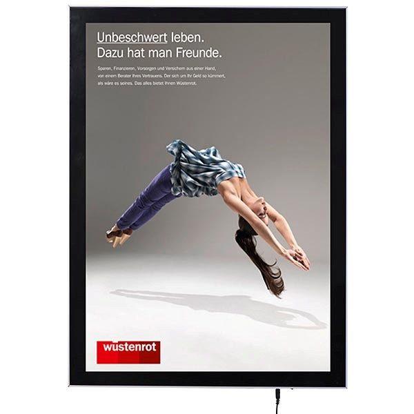 LED Magnetrahmen Premium einseitig DIN A0 Postermaß einseitig 1