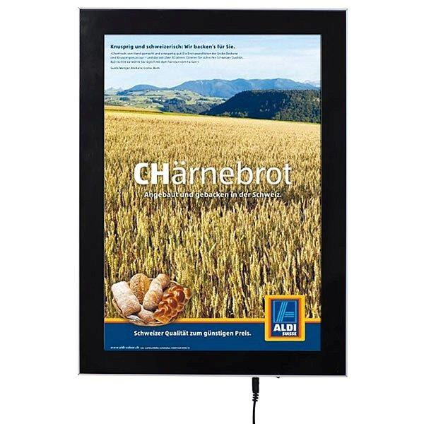 LED Magnetrahmen Premium einseitig DIN A4 Postermaß einseitig 1