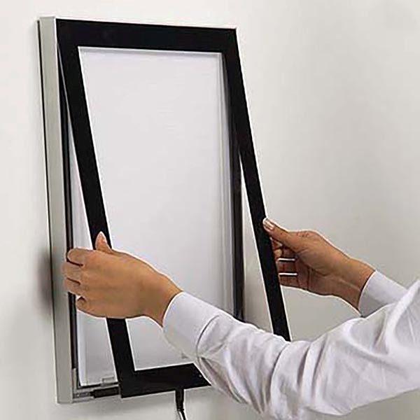 LED Magnetrahmen Premium einseitig DIN A4 Postermaß einseitig 4