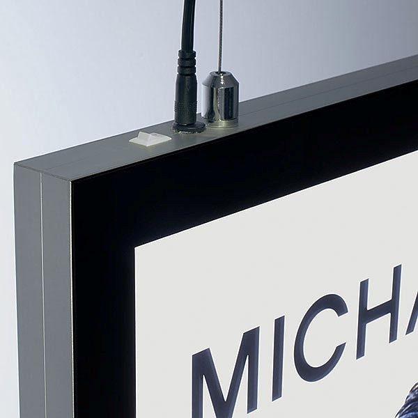 LED Magnetrahmen Standard doppelseitig DIN A1 Postermaß doppelseitig 7