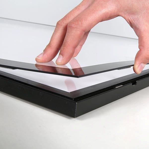 LED Magnetrahmen Standard einseitig DIN A2 Postermaß einseitig 2