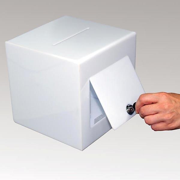 Losbox opal 205 x 205 x 205 cm aus Acryl abschließbar 1