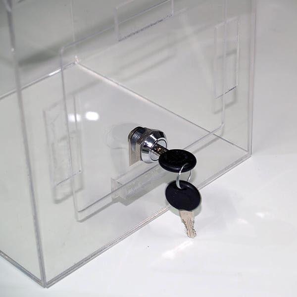Losbox transparent 205 x 205 x 205 cm aus Acryl abschließbar 1