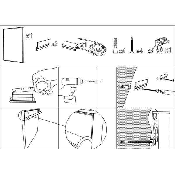 MaxiFrame LED 20 einseitig DIN A0 Postermaß 3