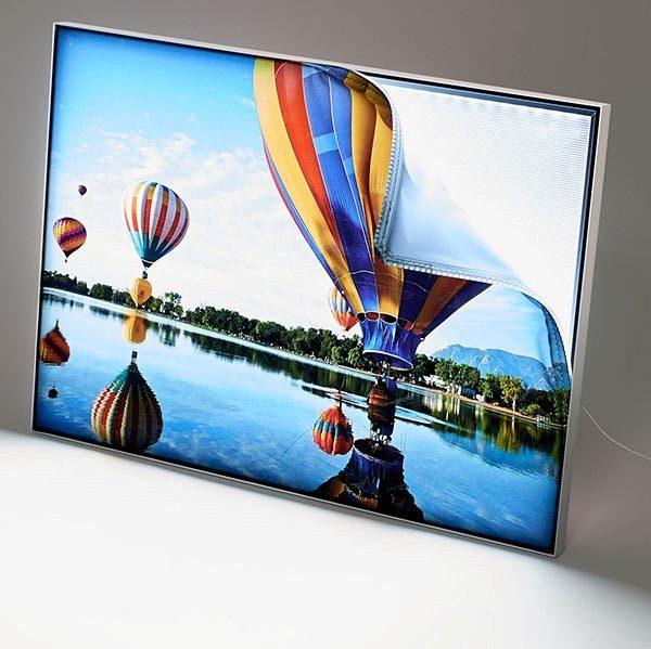 MaxiFrame LED 20 einseitig DIN B2 Postermaß 1