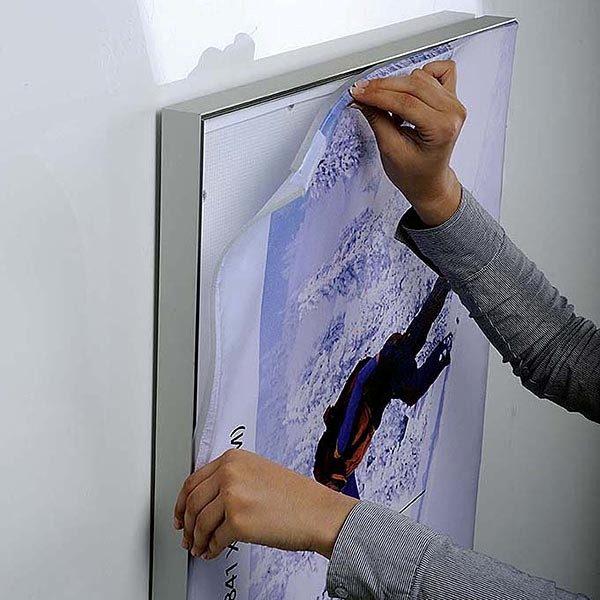MaxiFrame LED 20 einseitig DIN B2 Postermaß 10
