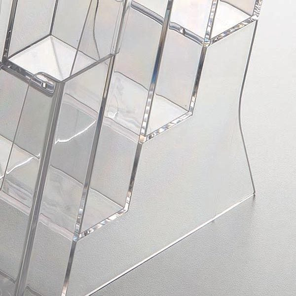 Mehrfach Tischprospekthalter DIN A4 x 3 Hochformat VPE 4 Stück 1