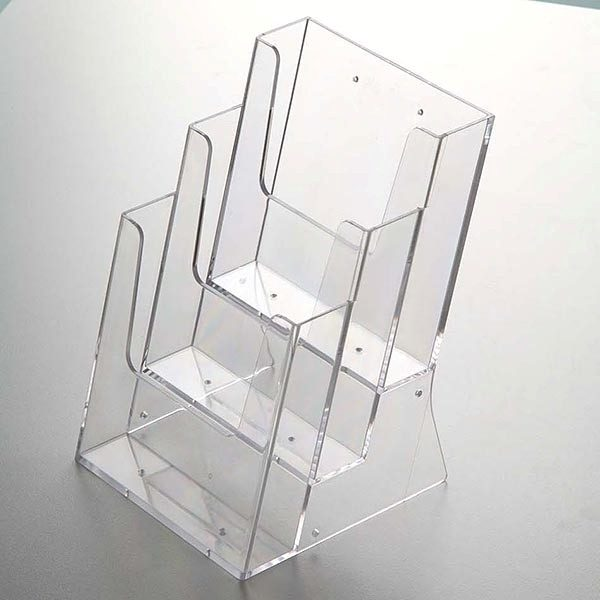 Mehrfach Tischprospekthalter DIN A5 x 3 Hochformat VPE 12 Stück 2