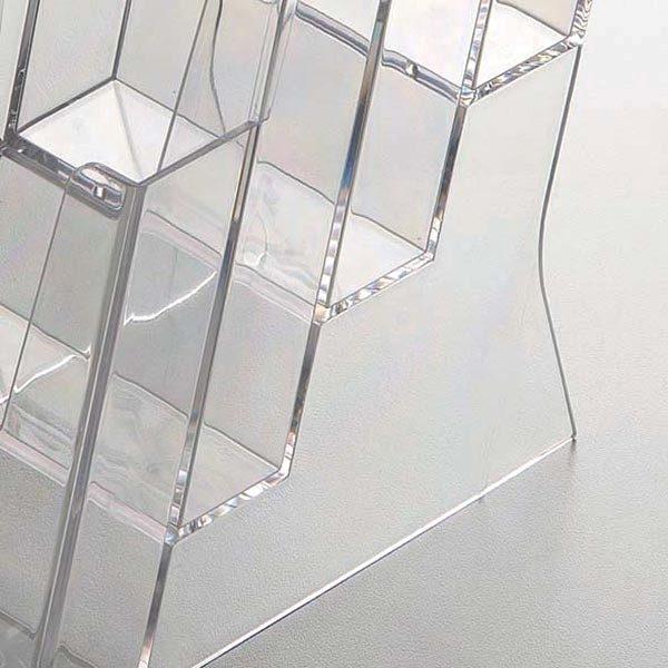 Mehrfach Tischprospekthalter DIN lang x 3 Hochformat VPE 20 Stück 1