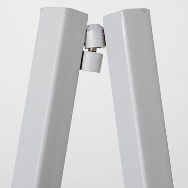 Mobile Staffelei Aluminium silber eloxiert 7