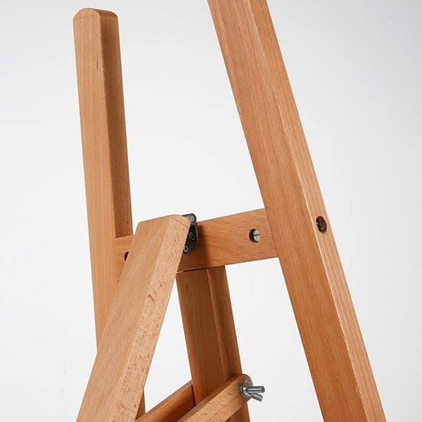 Moderne Holz Staffelei aus Buchenholz 6
