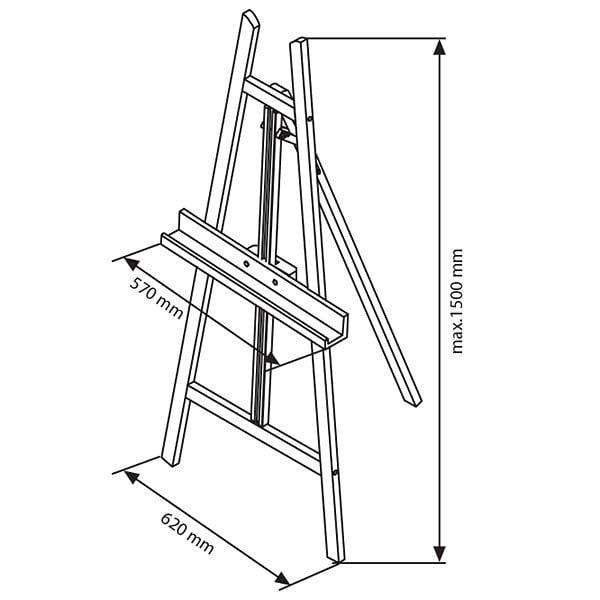 Moderne Holz Staffelei aus Buchenholz 8