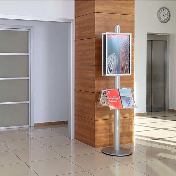 Plakatständer Free doppelseitig Rondo DIN A1 Postermaß 2x Acrylablage 4
